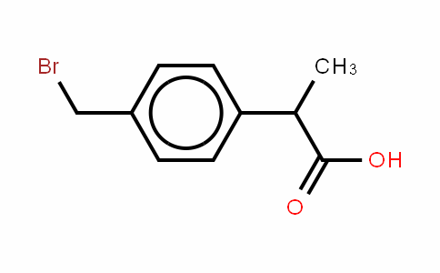2-((4-Bromomethyl)phenyl)propanic acid