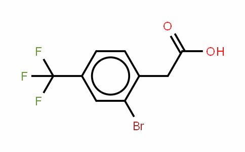 2-Bromo-4-(trifluormethyl)phenylacetic acid