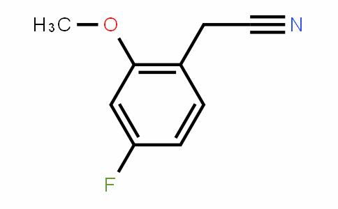 2-Methoxy-4-fluorobenzyl cyanide