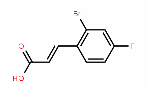 2-Bromo-4-fluorocinnamic acid