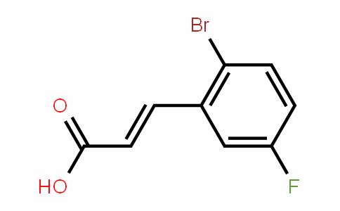2-Bromo-5-fluorocinnamic acid
