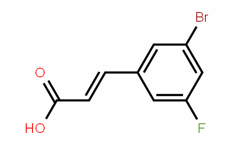 3-Bromo-5-fluorocinnamic acid