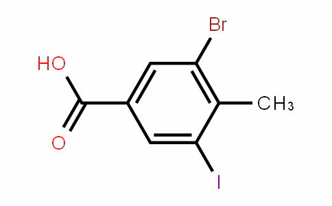 3-Bromo-5-iodo-4-methylbenzoic acid