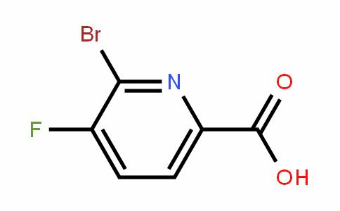 2-bromo-3-fluoro-6-carboxypyridine