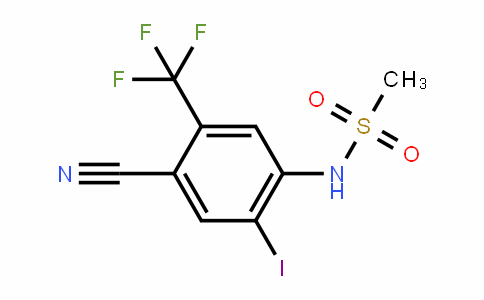 4-Cyano-2-iodo-N-methylsulfonyl-5-(trifluoromethyl)aniline