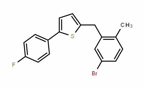 2-(4-fluorophenyl)-5-[(5-bromo-2-methylphenyl)methyl]thiophene