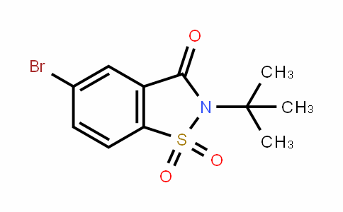 5-bromo-2-(tert-butyl)benzo[d]isothiazol-3(2H)-one 1,1-dioxide