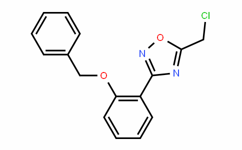 3-(2-Benzyloxy-phenyl)-5-chloromethyl-[1,2,4]oxadiazole