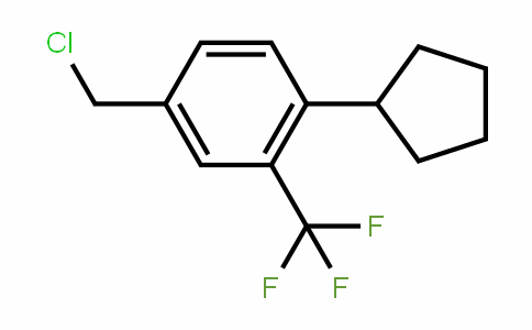 4-Chloromethyl-1-cyclopentyl-2-trifluoromethyl-benzene