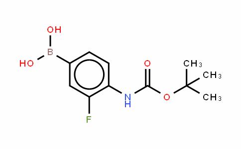 4-N-叔丁氧羰基氨基-3-氟苯硼酸