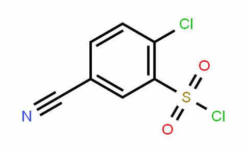 2 -氯- 5 -氰基苯- 1 -磺酰氯
