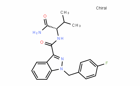 N-[(2S)-1-amino-3-methyl-1-oxobutan-2-yl]-1-[(4-fluorophenyl)methyl]indazole-3-carboxamide