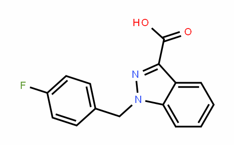 1-[(4-fluorophenyl)methyl]indazole-3-carboxylic acid