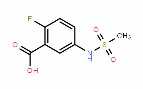 2-Fluoro-5-[(methylsulfonyl)amino]-benzoic acid