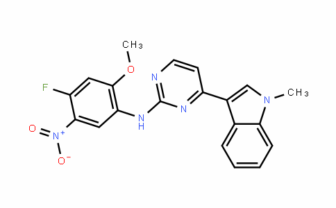 N-(4-fluoro-2-methoxy-5-nitrophenyl)-4-(1-methyl-1H-indol-3-yl)- 2-Pyrimidin amine