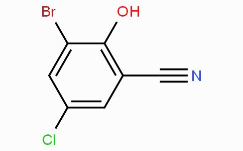 3-Bromo-5-chloro-2-hydroxybenzonitrile
