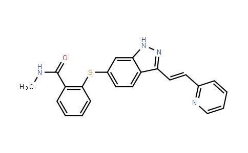 TR00376 | 319460-85-0 | N-Methyl-2-((3-((1E)-2-(pyridin-2-yl)ethenyl)-1H-indazol-6-yl)sulfanyl)benzamide