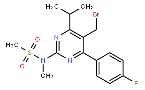 N-[5-Bromomethyl-4-(4-fluorophenyl)-6-isopropylpyrimidine-2-yl]-N-methylmethane sulfonamide | CAS:799842-07-2