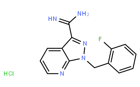 1-(2-Fluoro-benzyl)-1H-pyrazolo[3,4-b]pyridine-3-carboxaMidine hydrochloride   CAS:256499-19-1