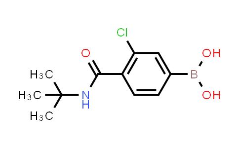 XY0199 | 850589-46-7 | 3-Chloro-4-(N-tert-butylcarbamoyl)phenylboronic acid