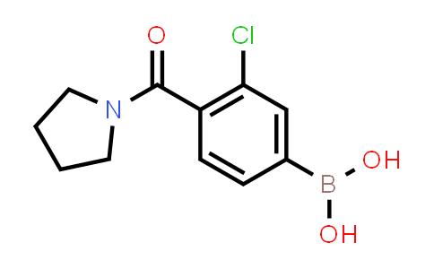 XY0246 | 850589-51-4 | 3-Chloro-4-(pyrrolidine-1-carbonyl)benzeneboronicacid