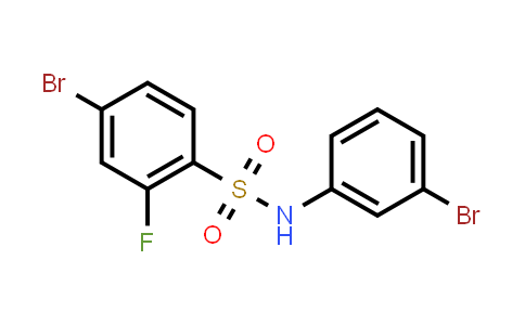 XY0249 | 1772777-01-1 | 4-Bromo-N-(3-bromophenyl)-2-fluorobenzenesulfonamide