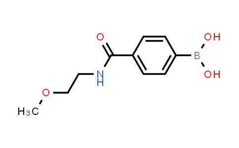 XY0251 | 850589-34-3 | 4-(2-methoxyethylcarbamoyl)phenyl boronic acid