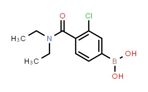 XY0265 | 850589-48-9 | 3-Chloro-4-(diethylcarbamoyl)benzeneboronicacid