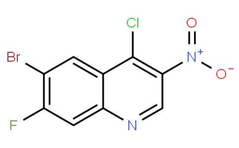 6-bromo-4-chloro-7-fluoro-3-nitroquinoline | CAS:853908-81-3