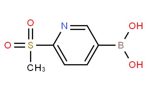 6-(methylsulfonyl)pyridine-3-boronic acid