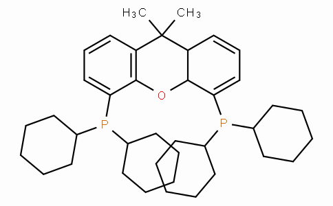 4,5-Bis(dicyclohexylphosphino)-9,10a-dihydro- 9,9-dimethyl-8aH-xanthene