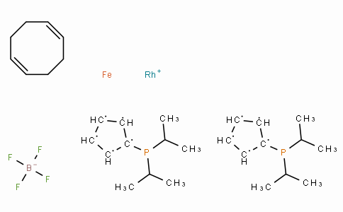 SC10109 | 1,1'-Bis(di-i-propylphosphino)ferrocene(1,5-cyclooctadiene)rhodium(I) tetrafluoroborate