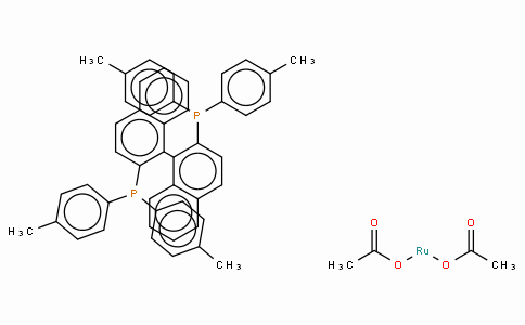 SC10146 | 116128-29-1 | Diacetato[(R)-(+)-2,2'-bis(di-p-tolylphosphino)-1,1'-binaphthyl]ruthenium(II), Ru(OAc)2[(R)-tolbinap]