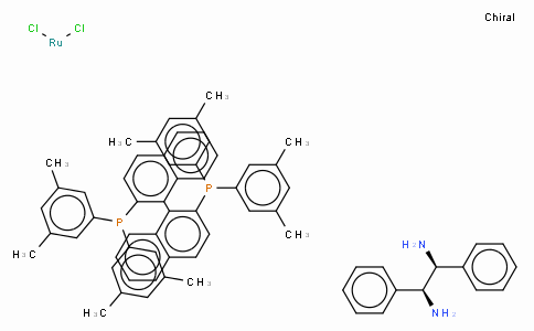 SC10173 | Dichloro{(S)-(-)-2,2'-bis[di(3,5-xylyl)phosphino]-1,1'-binaphthyl}[(1S,2S)-(-)-1,2-diphenylethylenediamine]ruthenium(II),  RuCl2[(S)-xylbinap][(S,S)-dpen]