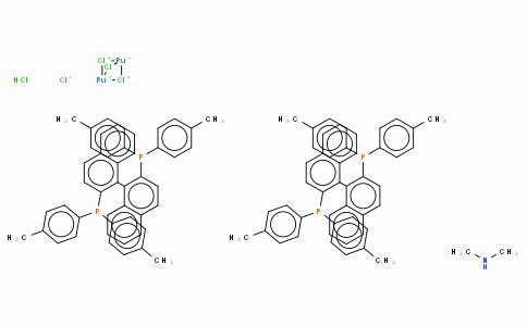 SC10180 | Dimethylammonium dichlorotri(μ-chloro)bis[(R)-(+)-2,2'-bis(di-p-tolylphosphino)-1,1'-binaphthyl]diruthenate(II),  [NH2Me2][{RuCl((R)-tolbinap)}2(μ-Cl)3]