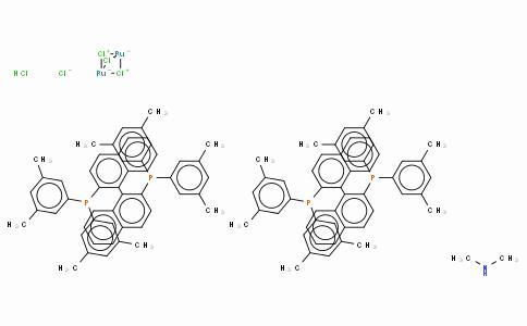 SC10186 | Dimethylammonium dichlorotri(μ-chloro)bis{(R)-(+)-2,2'-bis[di(3,5-xylyl)phosphino]-1,1'-binaphthyl}diruthenate(II),  [NH2Me2][{RuCl((R)-xylbinap)}2(μ-Cl)3]