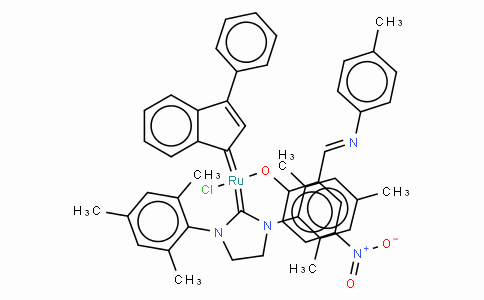 SC10229 | [1,3-Bis(2,4,6-trimethylphenyl)-2-imidazolidinylidene]-[2-[[(4-methylphenyl)imino ]methyl]-4-nitrophenolyl]-[3-phenyl-1H-inden-1-ylidene]ruthenium(II) chloride