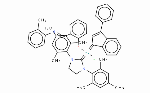 [1,3-Bis(2,4,6-trimethylphenyl)-2-imidazolidinylidene]-[2-[[(2-methylphenyl)imino ] methyl]phenolyl]-[3-phenyl-1H-inden-1-ylidene]ruthenium(II) chloride