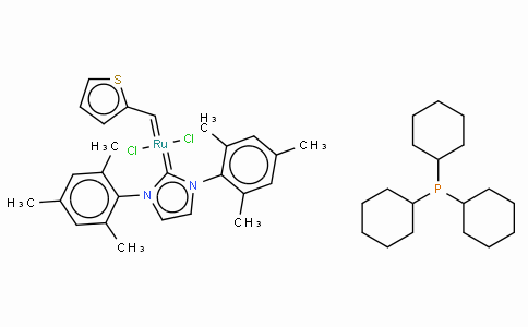 Tricyclohexylphosphine[1,3-bis(2,4,6-trimethylphenyl)imidazol-2-ylidene][2-thienylmethylene]ruthenium(II) dichloride