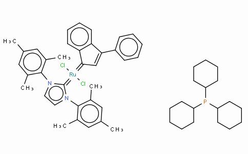 SC10234 | Tricyclohexylphosphine[1,3-bis(2,4,6-trimethylphenyl)imidazol-2-ylidene][3-phenyl-1H-inden-1-ylidene]ruthenium(II) dichloride