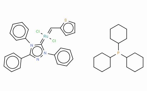 SC10237 | 1190427-51-0 | 三环己基膦[2,4 - 二氢-2,4,5 - 三苯基-3H-1,2,4 - 三唑-3 - 亚基][2 - 噻吩基甲基]钌(II)二氯化