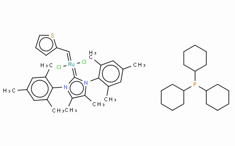 SC10240 | 1190427-50-9 | Tricyclohexylphosphine[4,5-dimethyl-1,3-bis(2,4,6-trimethylphenyl)imidazol-2-ylidene][2-thienylmethylene]ruthenium(II) dichloride