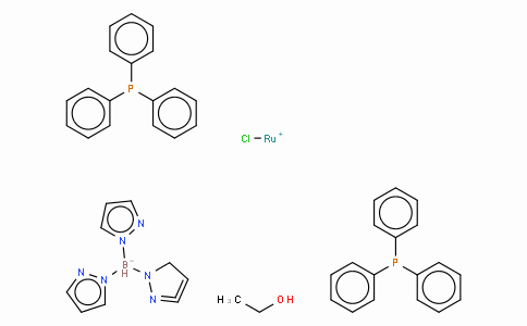 Chloro[hydrotris(pyrazol-1-yl)borato]bis(triphenylphosphine)ruthenium(II) ethanol adduct