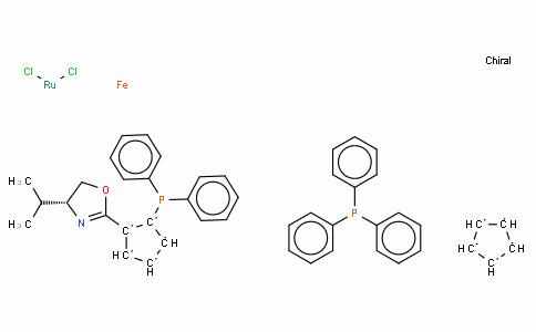 SC10271 | 849921-25-1 | (+)-Dichloro[(4R)-4-(i-propyl)-2-{(R)-2-(diphenylphosphino)ferrocenyl}oxazoline](triphenylphosphine)ruthenium(II)