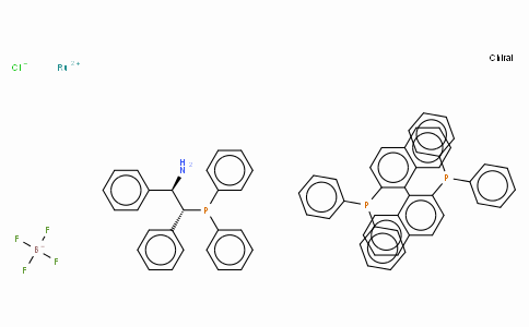 Chloro[(S)-2,2'-bis(diphenylphosphino)-1,1'-binaphthyl][(1S,2S)-2-(diphenylphosphino)-1,2-diphenylethanamine]ruthenium(II) tetrafluoroborate