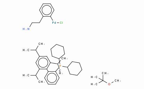 SC10482 | 1028206-56-5 | Chloro(2-dicyclohexylphosphino-2',4',6'-tri-i-propyl-1,1'-biphenyl)[2-(2-aminoethyl)phenyl] palladium(II) methyl-t-butylether adduct