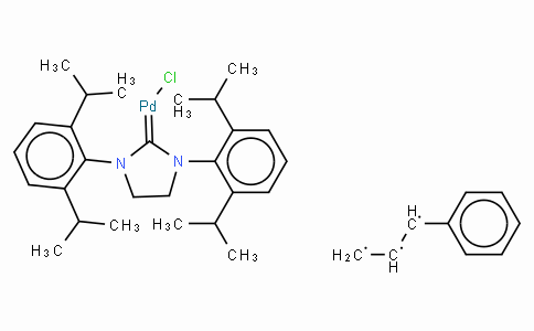 SC10497 | 884879-24-7 | Chloro[(1,2,3-η)-3-phenyl-2-propenyl][1,3-bis(2,6-di-i-propylphenyl)-4,5-dihydroimidazol-2-ylidene]palladium(II)