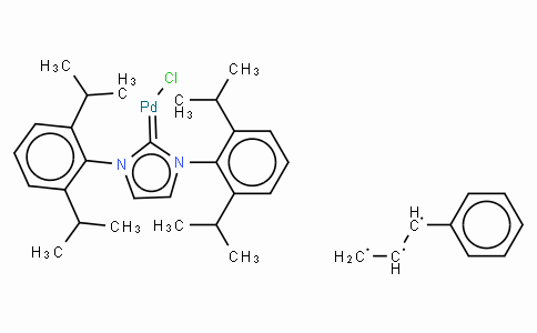 SC10498 | Chloro[(1,2,3-η)-3-phenyl-2-propenyl][1,3-bis(2,6-di-i-propylphenyl)imidazol-2-ylidene]palladium(II)