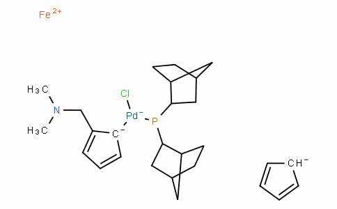 SC10551 | Chloro(di-2-norbornylphosphino)(2-dimethylaminomethylferrocen-1-yl)palladium(II)