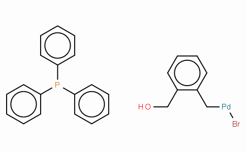 SC10553 | Bromo[(2-(hydroxy-κO)methyl)phenylmethyl-κC](triphenylphosphine)palladium(II)